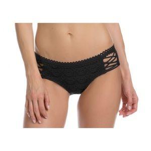 BECCA Black Colorplay Lace Lattice Bikini BOttom